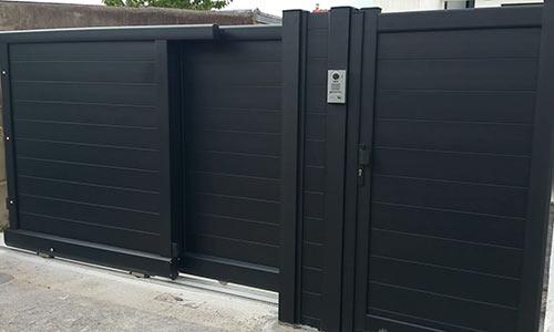 coulissant telescopique noir cloture portillon region parisienne hauts de seine 92jpg. Black Bedroom Furniture Sets. Home Design Ideas
