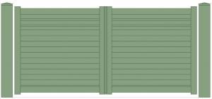Portail aluminium lames horizontales Blaz