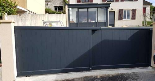 Portail coulissant double rail meriel 95 a2p