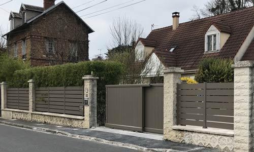 Portail escamotable, portillon, clôture - La Frette sur seine 95