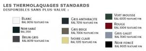 Ral de portails coulissants standards sans plus-value